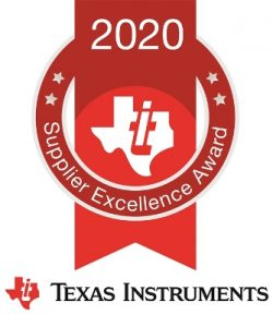 Krypton receives Texas Instruments 2020 Supplier Excellence Award